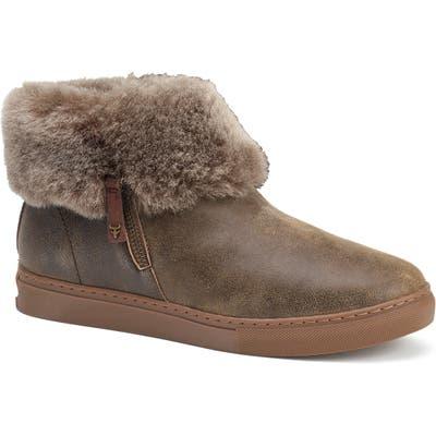Trask Lexi Genuine Shearling Sneaker, Brown