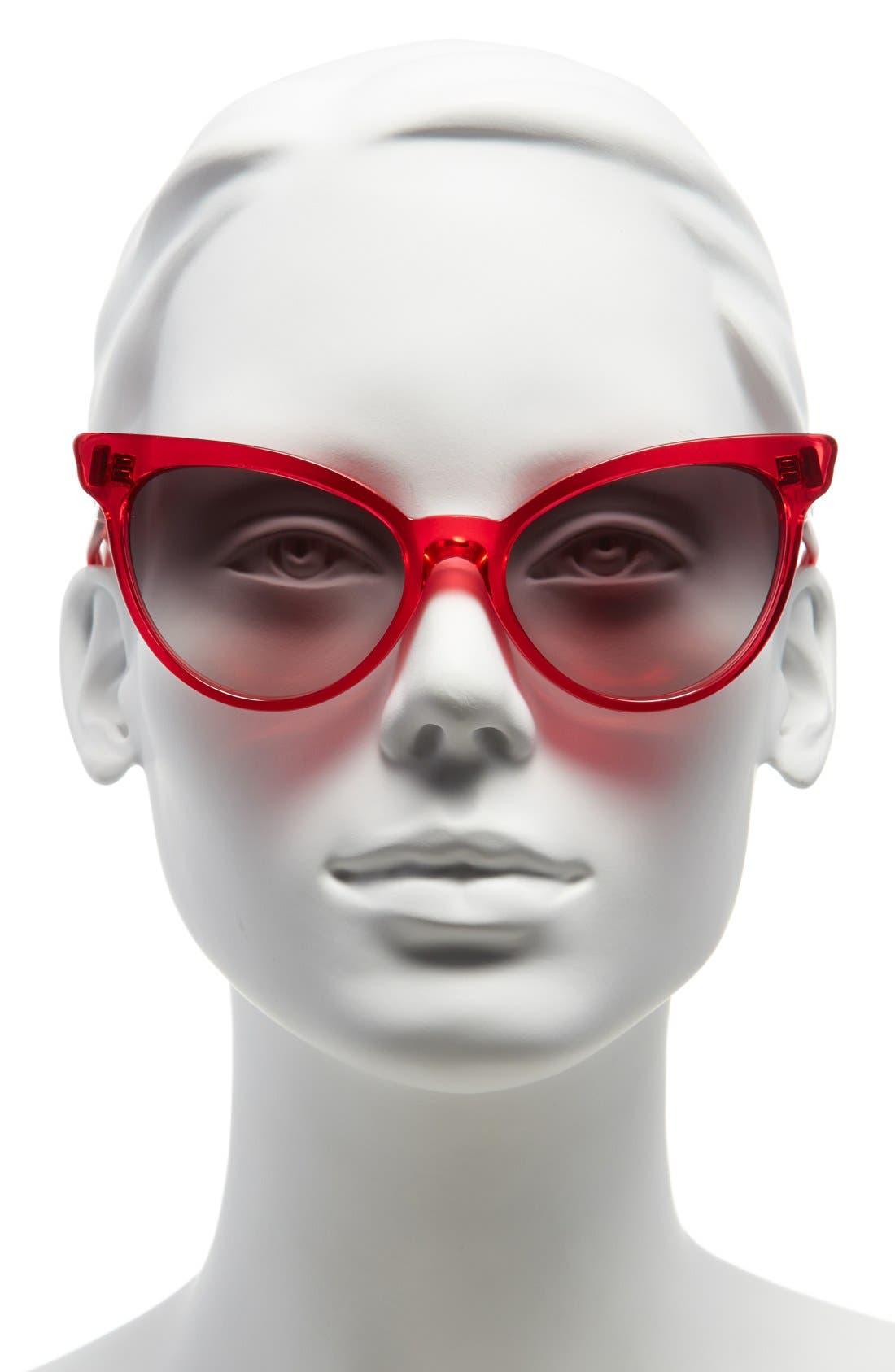 ,                             'La Femme' 55mm Sunglasses,                             Alternate thumbnail 17, color,                             600