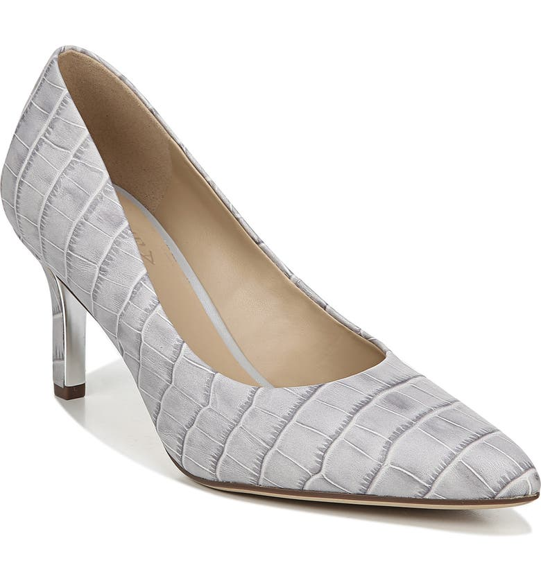NATURALIZER Natalie Pump, Main, color, GREY CROC LEATHER