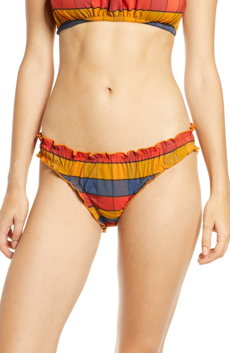 MADEWELL Second Wave Ruffled Bikini Bottom, Main, color, 700