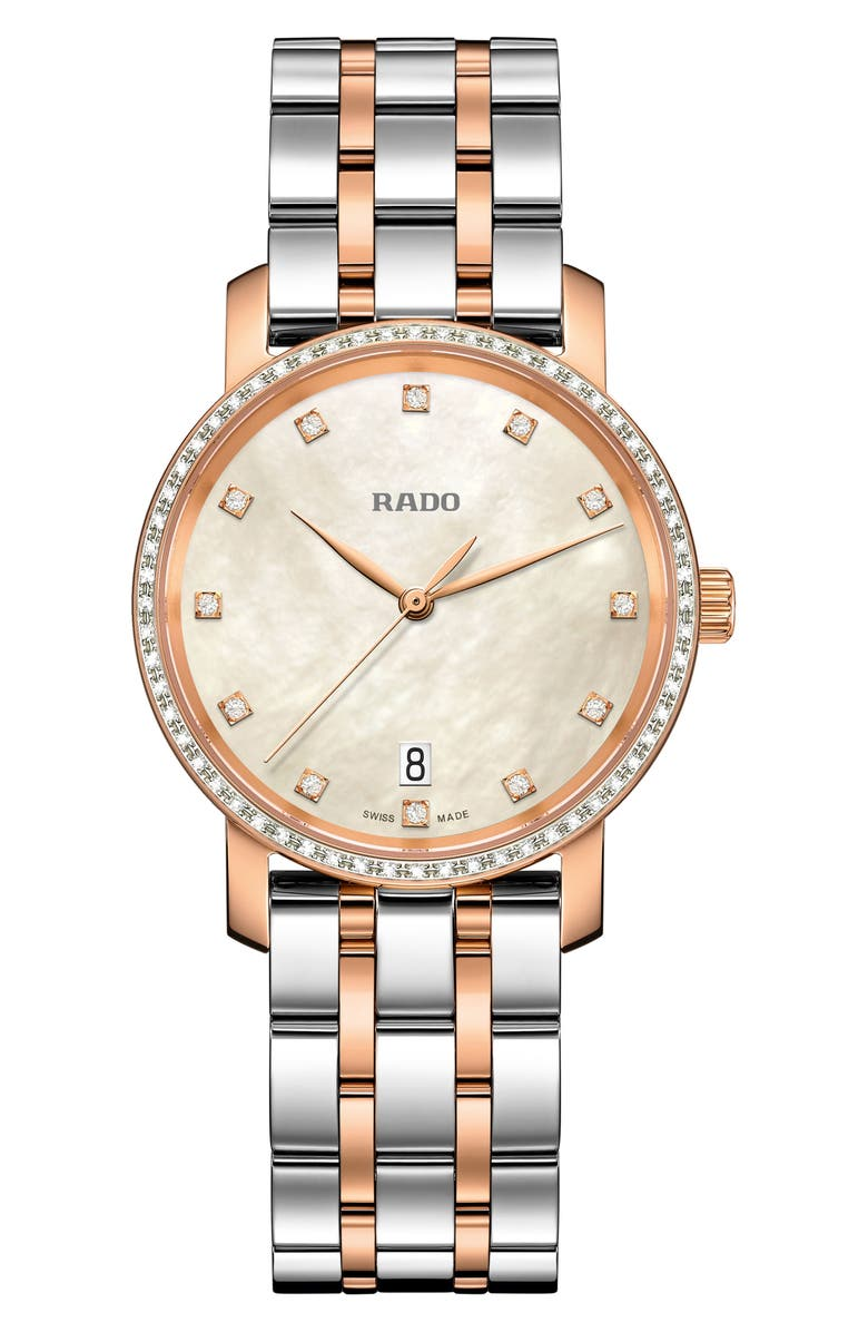 RADO DiaMaster Diamond Bracelet Watch, 33mm, Main, color, 040