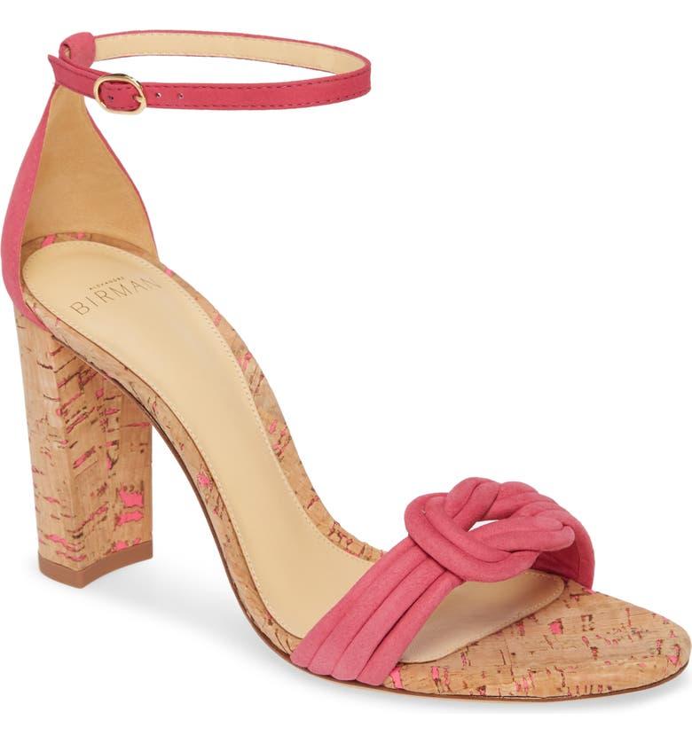 ALEXANDRE BIRMAN Chiara Cork Ankle Strap Sandal, Main, color, POPSICLE