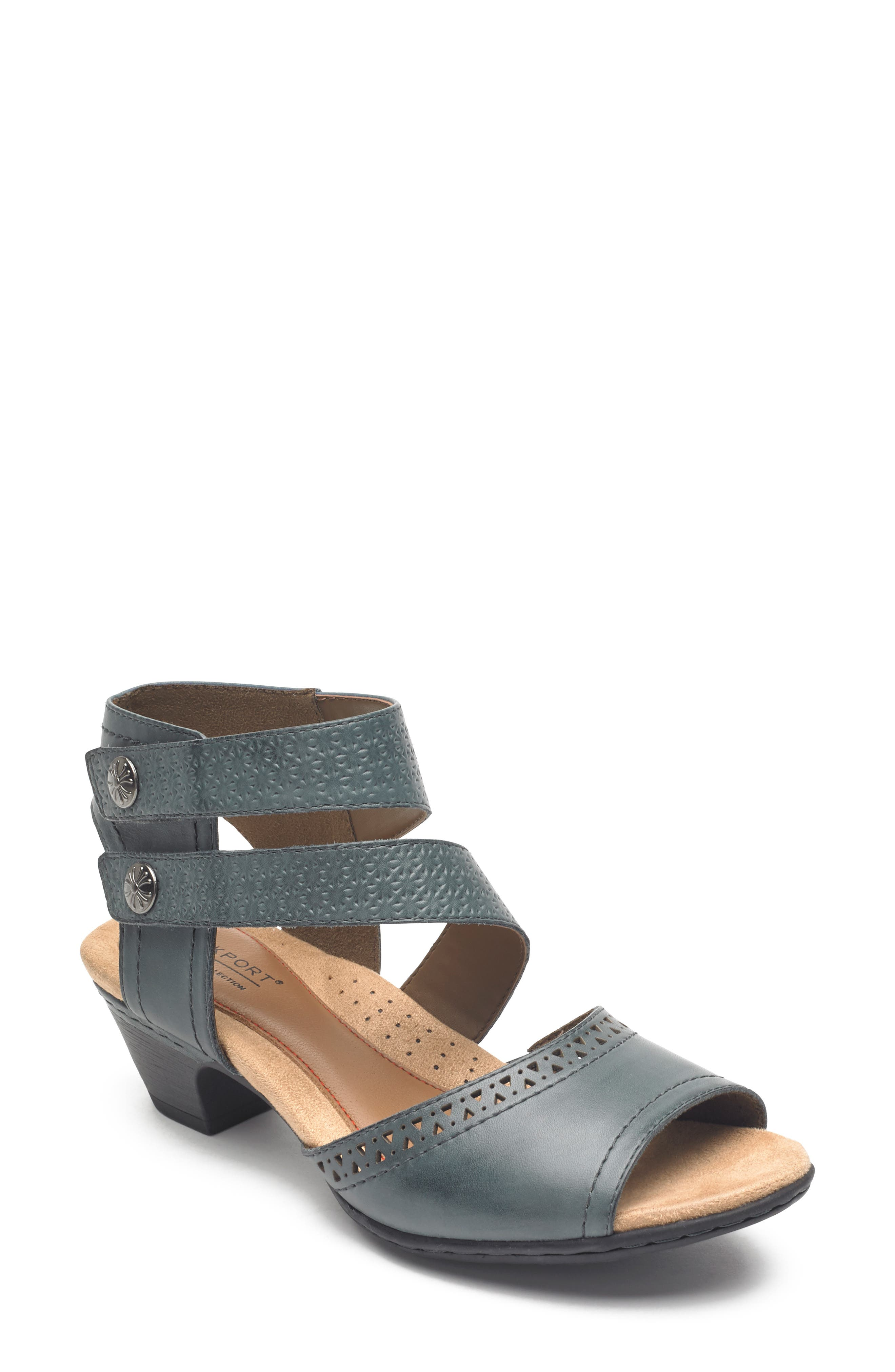 Image of Cobb Hill Abbott Double Cuff Perforated Sandal