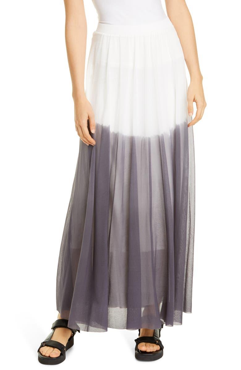 FUZZI Dégradé Mesh Maxi Skirt, Main, color, 020
