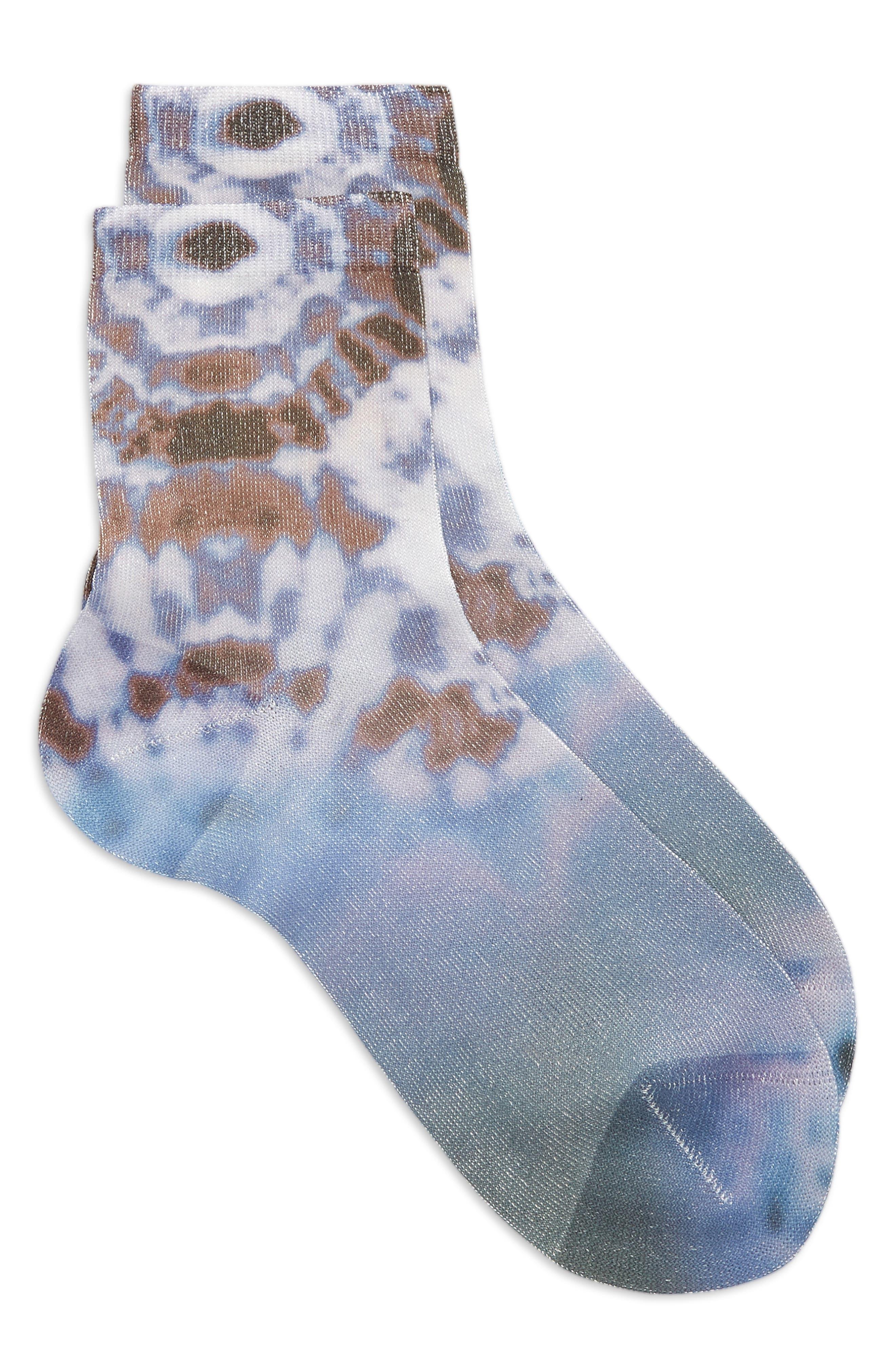 Women's Mara La Rosa Tie Dye Silk Blend Socks