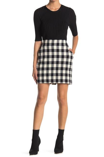 Image of VERONICA BEARD Arezzo Buffalo Plaid Mini Skirt