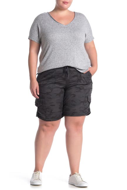 Image of SUPPLIES BY UNIONBAY Betsey Comfort Waist Camo Print Twill Shorts