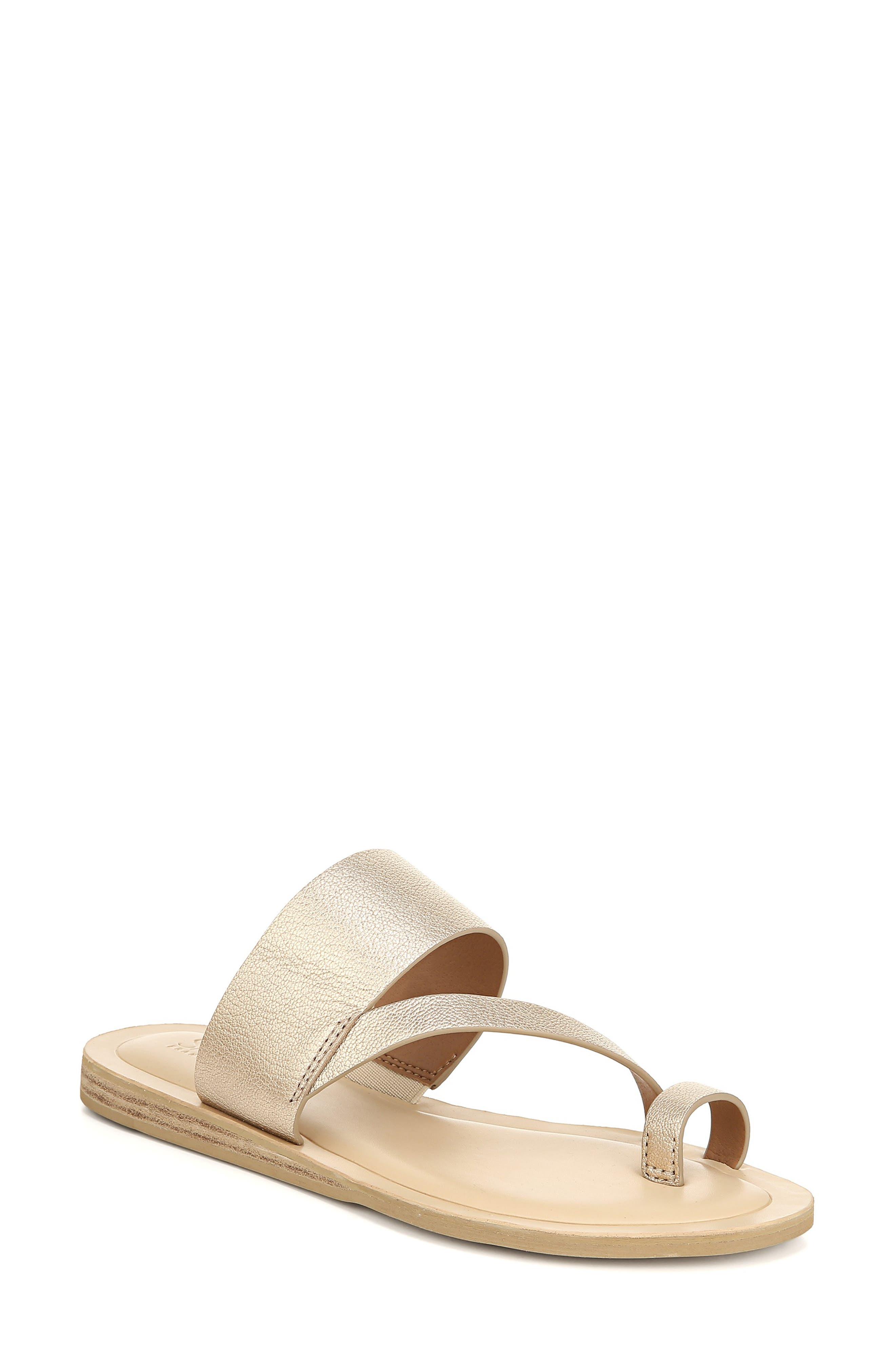 Sarto By Franco Sarto Leila Toe Loop Sandal, Metallic