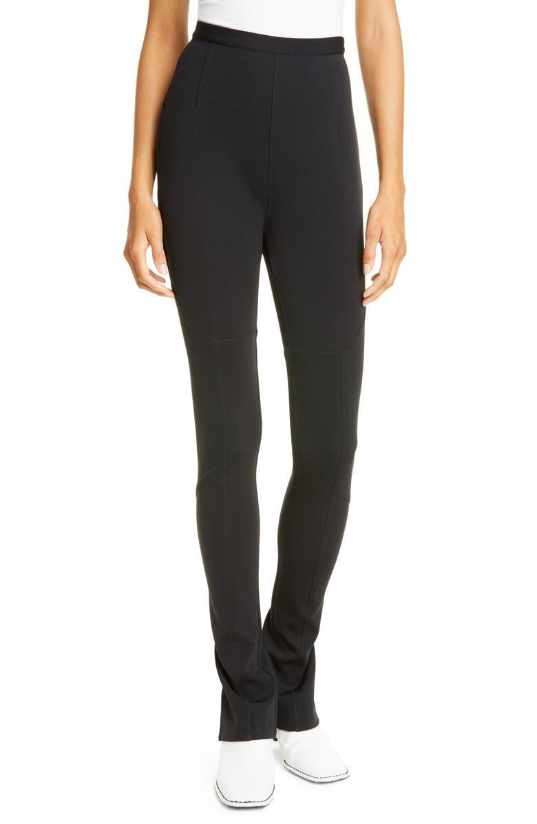 PROENZA SCHOULER WHITE LABEL Proenza Schouler PSWL Slim Straight Leg Pants, Main, color, BLACK