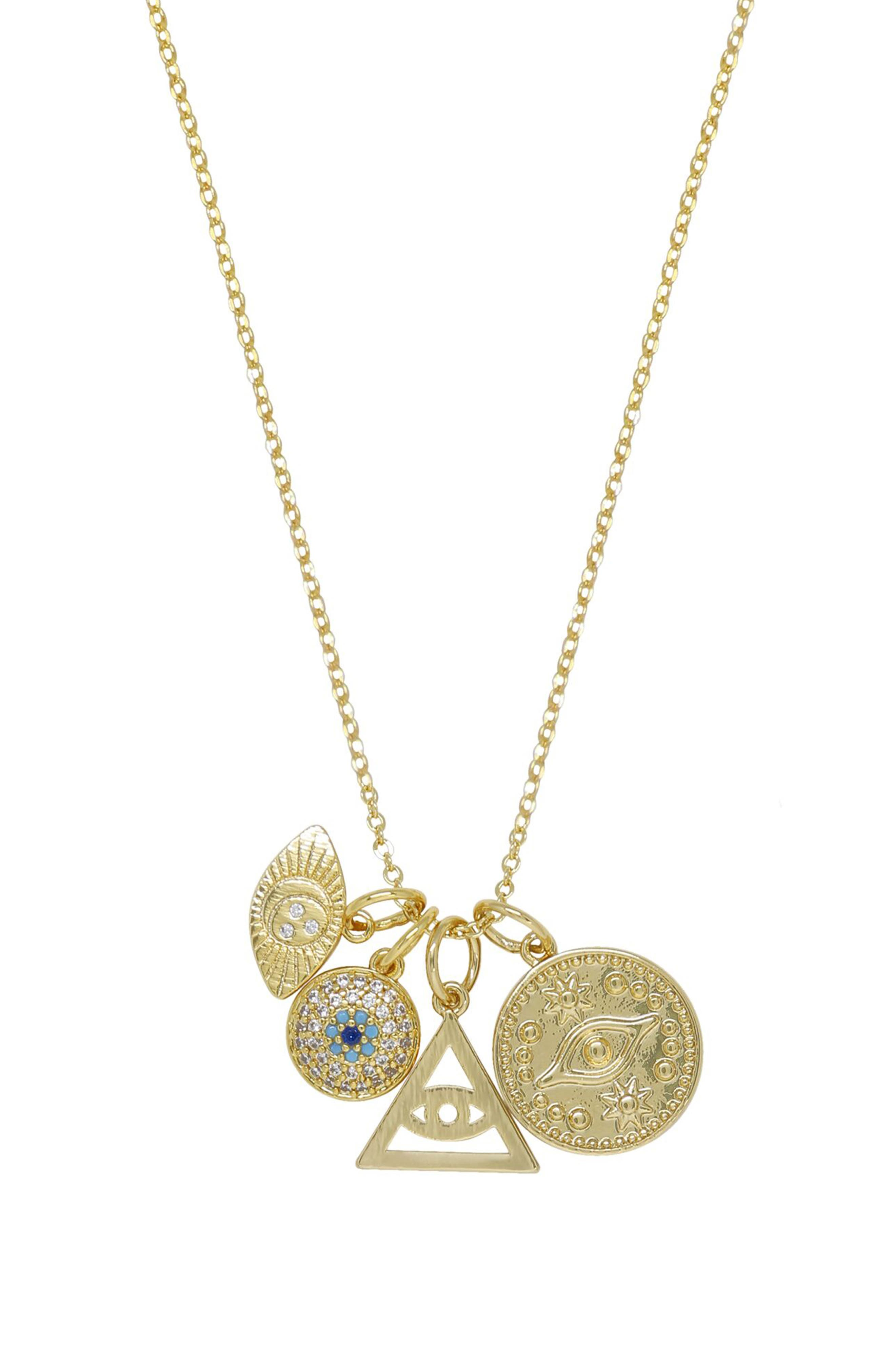 Eye Charms Pendant Necklace