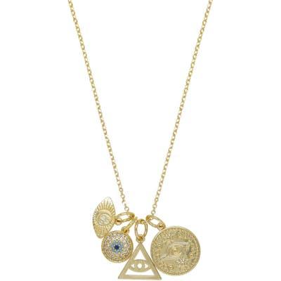 Ettika Eye Charms Pendant Necklace