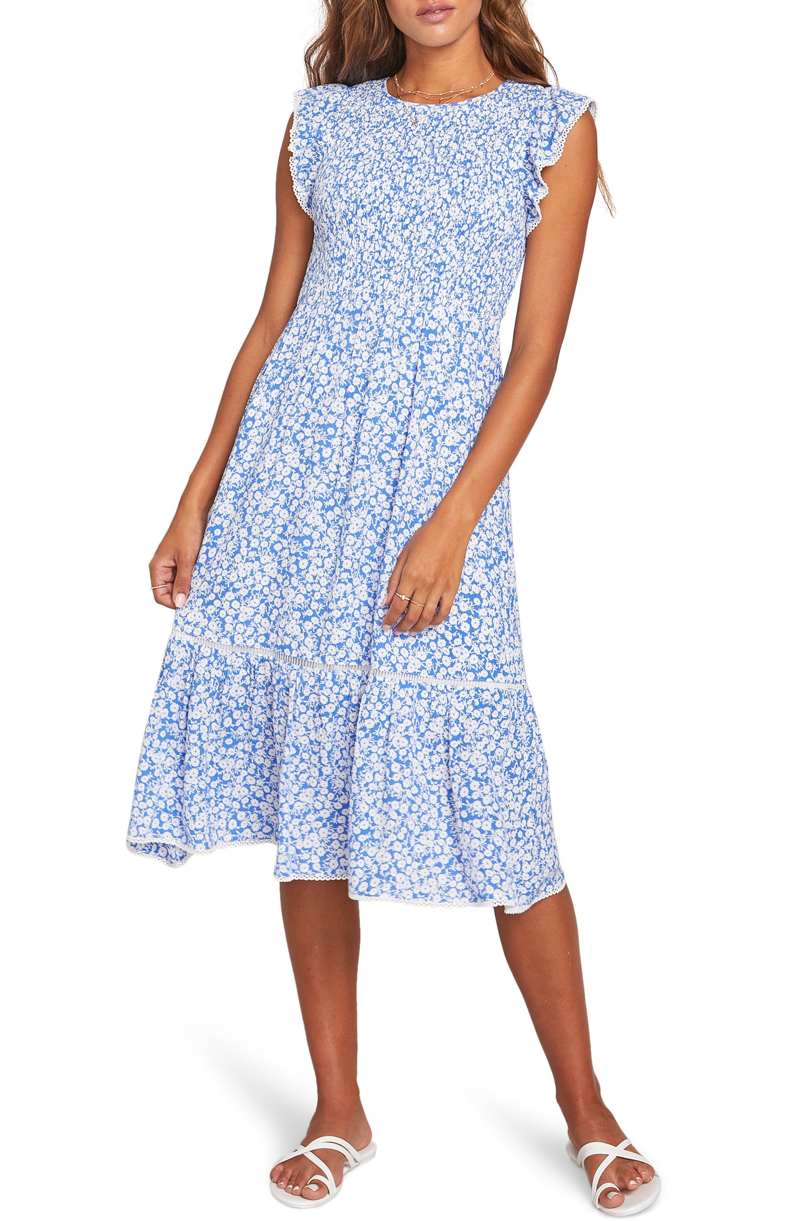 Women's Lost + Wander Pick Me Floral Smocked Dress