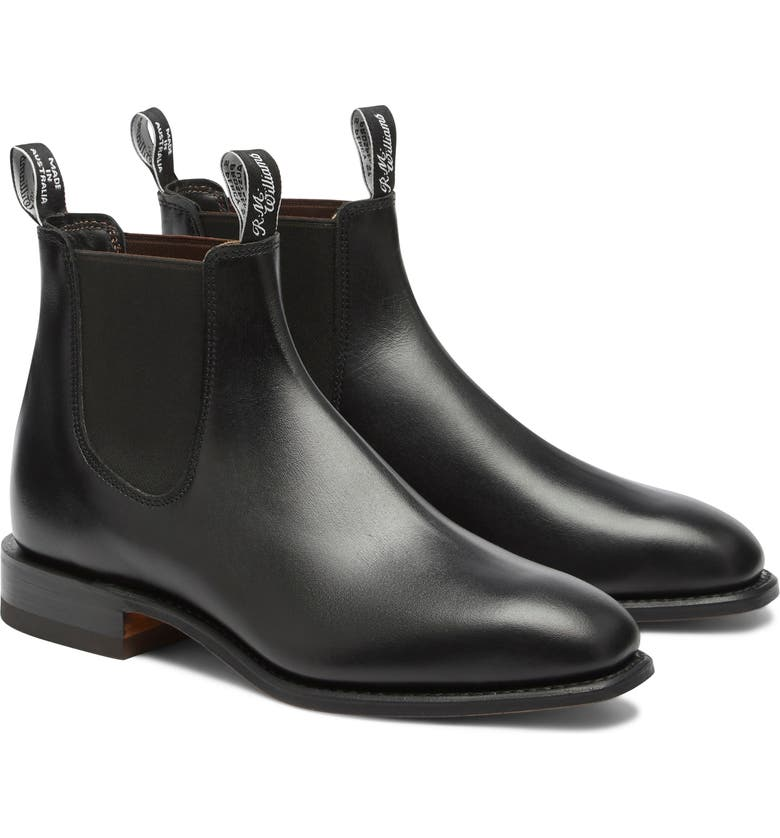 R.M. WILLIAMS Classic Chelsea Boot, Main, color, BLACK