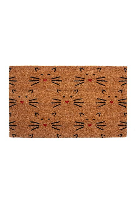 Image of ENTRYWAYS Love Cats Coir Doormat