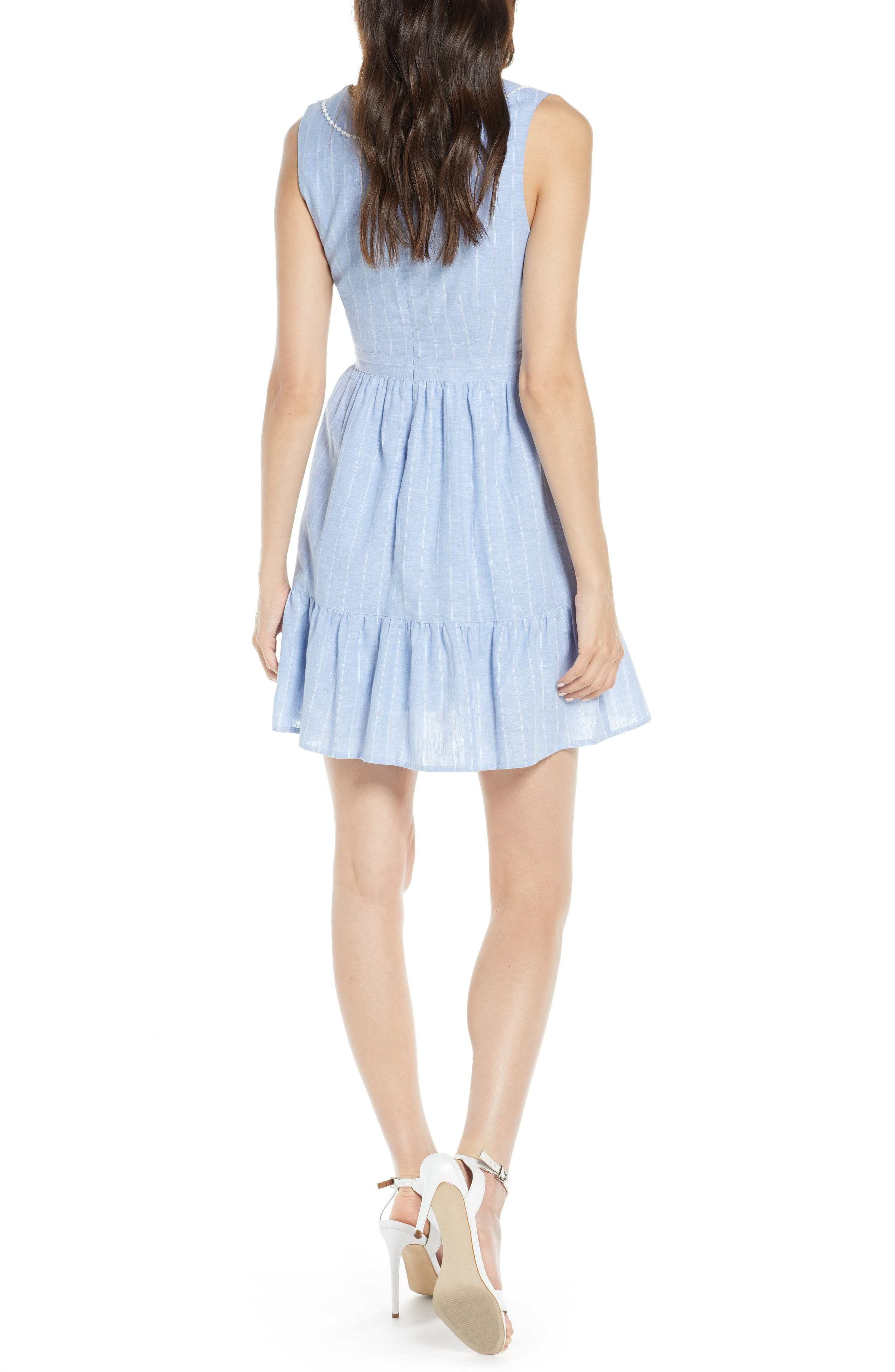 ,                             It's a Date Linen & Cotton Sundress,                             Alternate thumbnail 2, color,                             CHAMBRAY