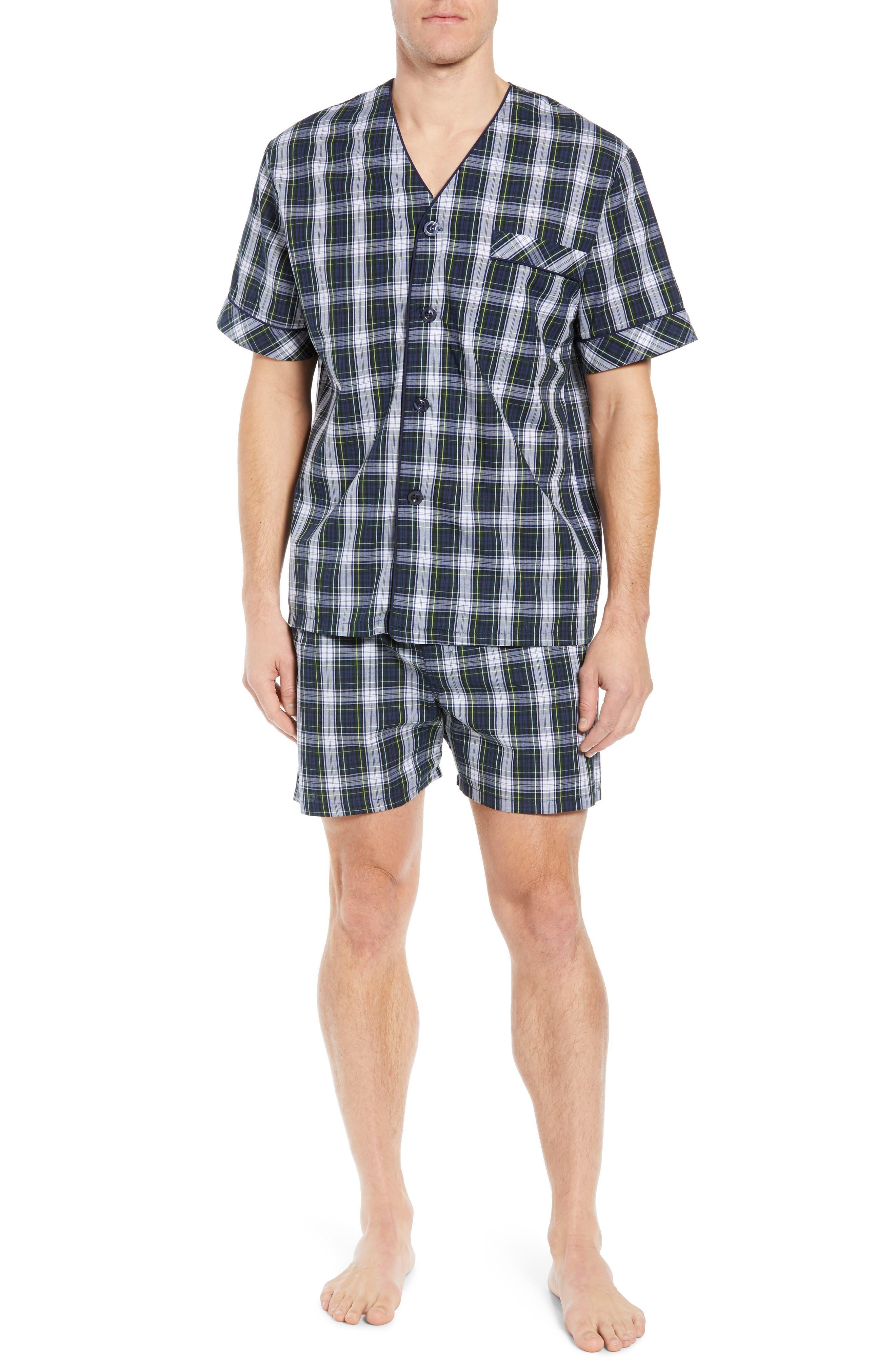 Majestic International Edward Easy Care Short Pajama Set, Green