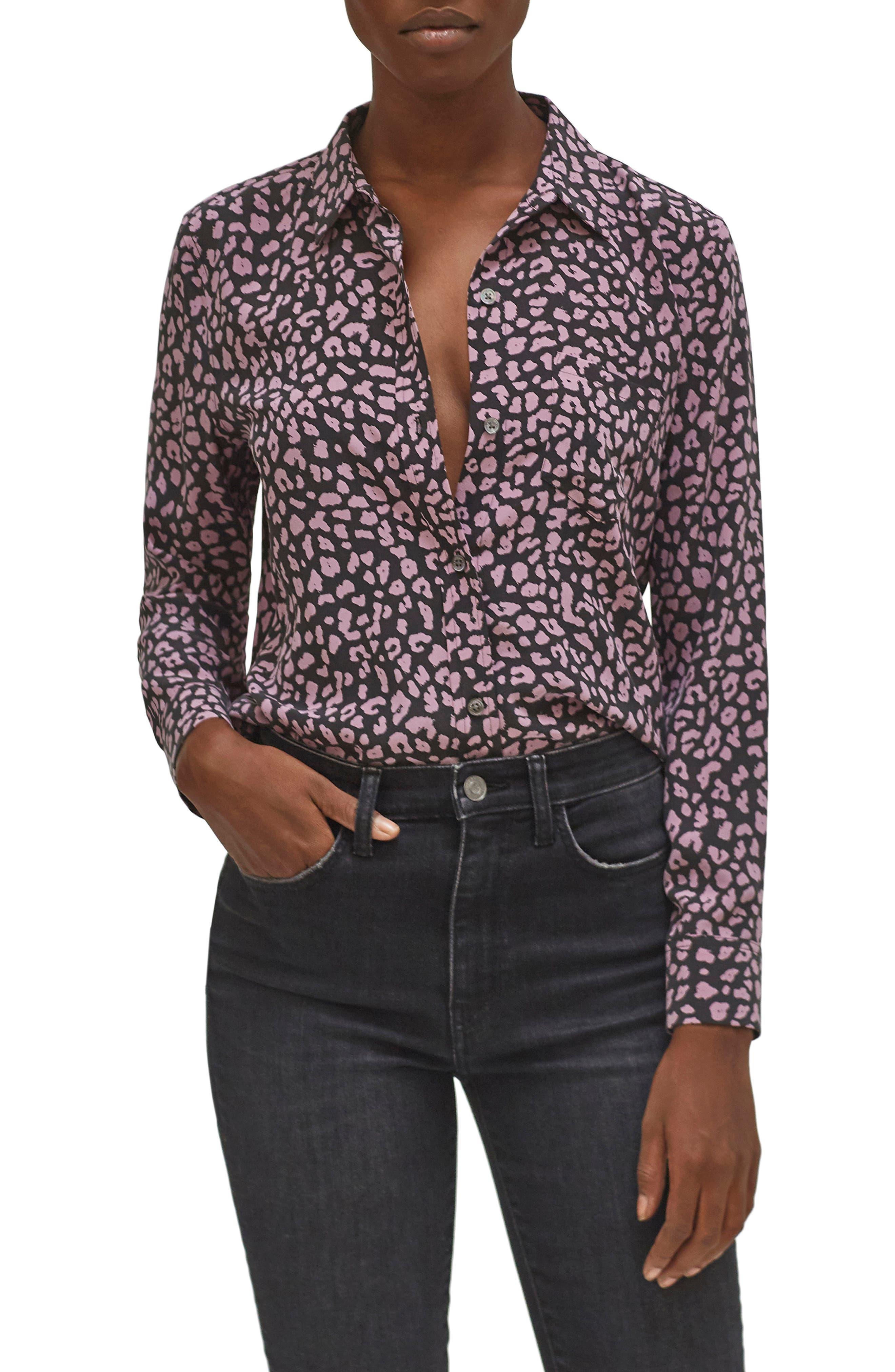 Equipment Leema Button Up Silk Shirt | Nordstrom