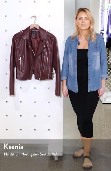 Faux Leather Moto Jacket, sales video thumbnail