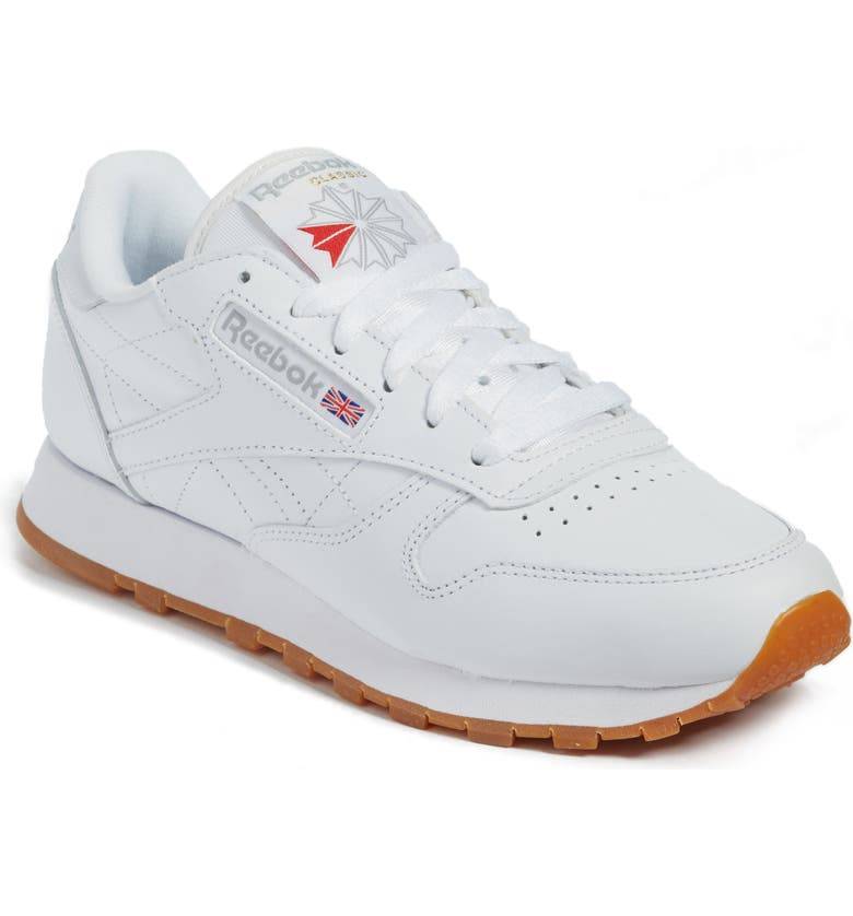 REEBOK Classic Leather Sneaker, Main, color, 100