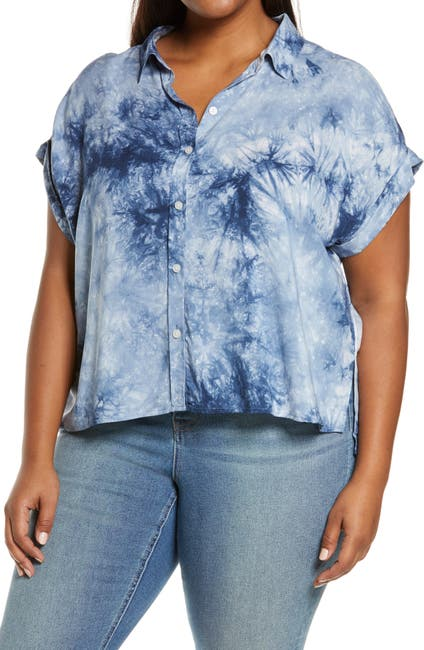 Image of Sanctuary Mod Tie-Dye Short Sleeve Shirt
