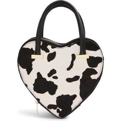 Topshop Cow Heart Grab Bag - Black