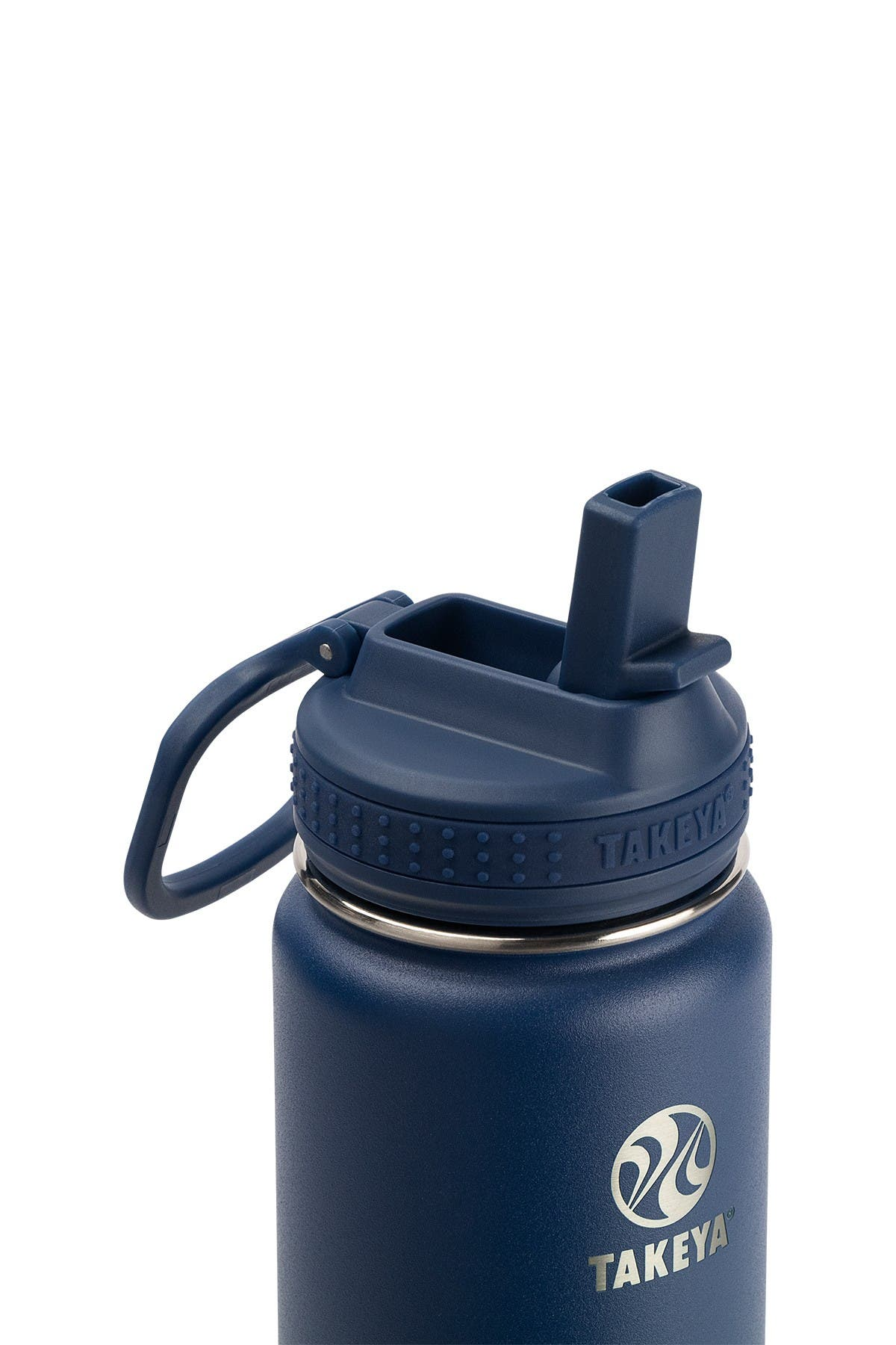 Image of Takeya Actives Insulated 22 oz. Stainless Steel Bottle with Straw Lid - Midnight