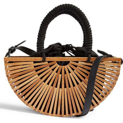 Topshop Crete Wooden Grab Bag - Beige