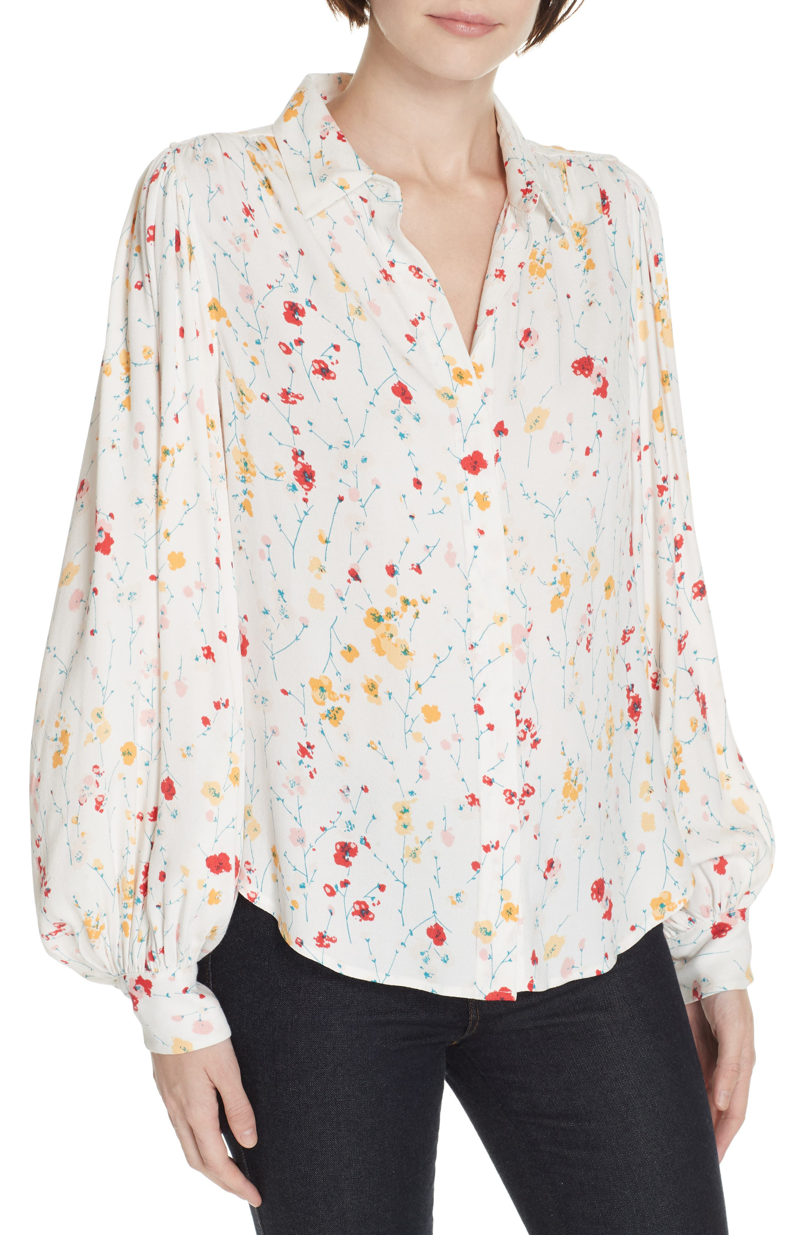 ,                             Marcilly Blouse,                             Main thumbnail 1, color,                             100
