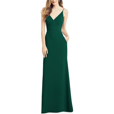 After Six V-Neck Crepe Gown, 8 (similar to 1) - Green