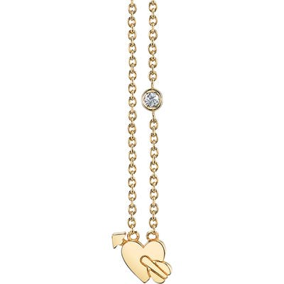 Syd By Sydney Evan Lovestruck Diamond Emoji Necklace