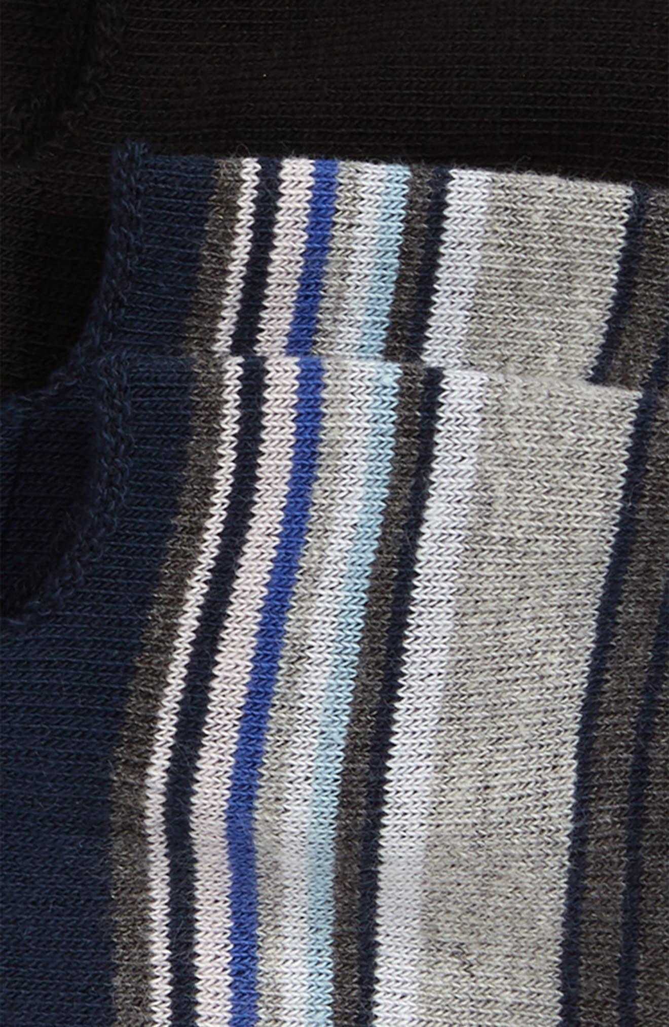 ,                             2-Pack Liner Socks,                             Alternate thumbnail 2, color,                             NAVY/ BLACK