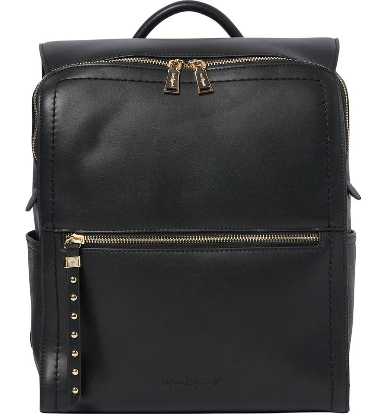 URBAN ORIGINALS Rhythm Vegan Leather Backpack, Main, color, BLACK