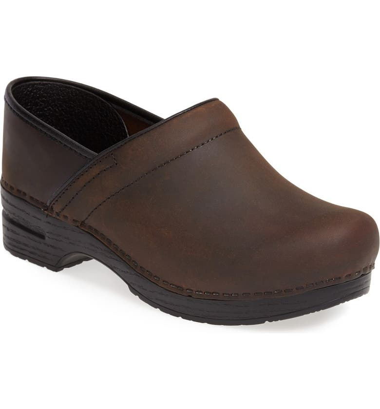 DANSKO Pro Clog, Main, color, ANTIQUE BROWN OILED