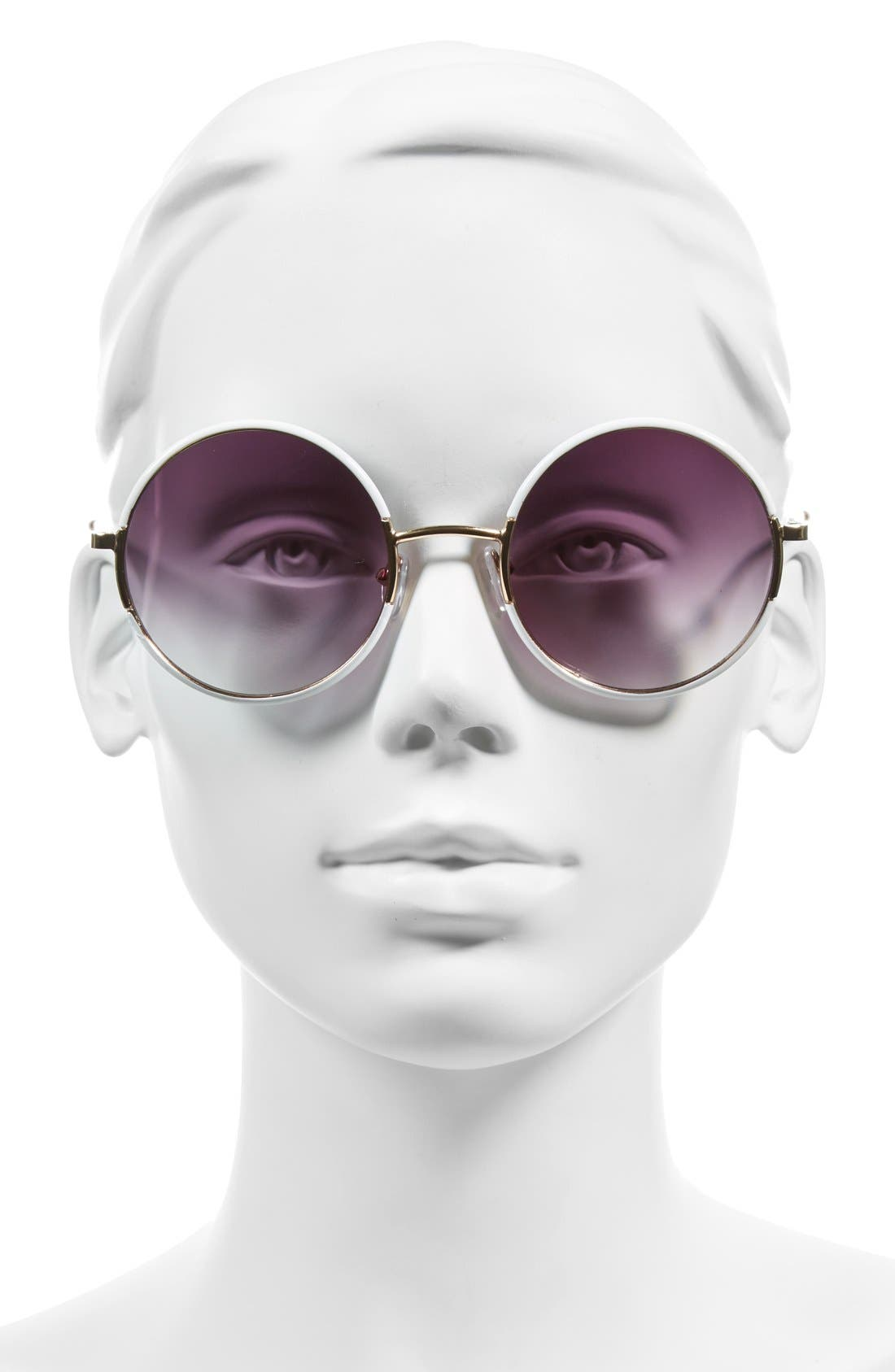 ,                             'Oh Nice' 55mm Round Sunglasses,                             Alternate thumbnail 4, color,                             100