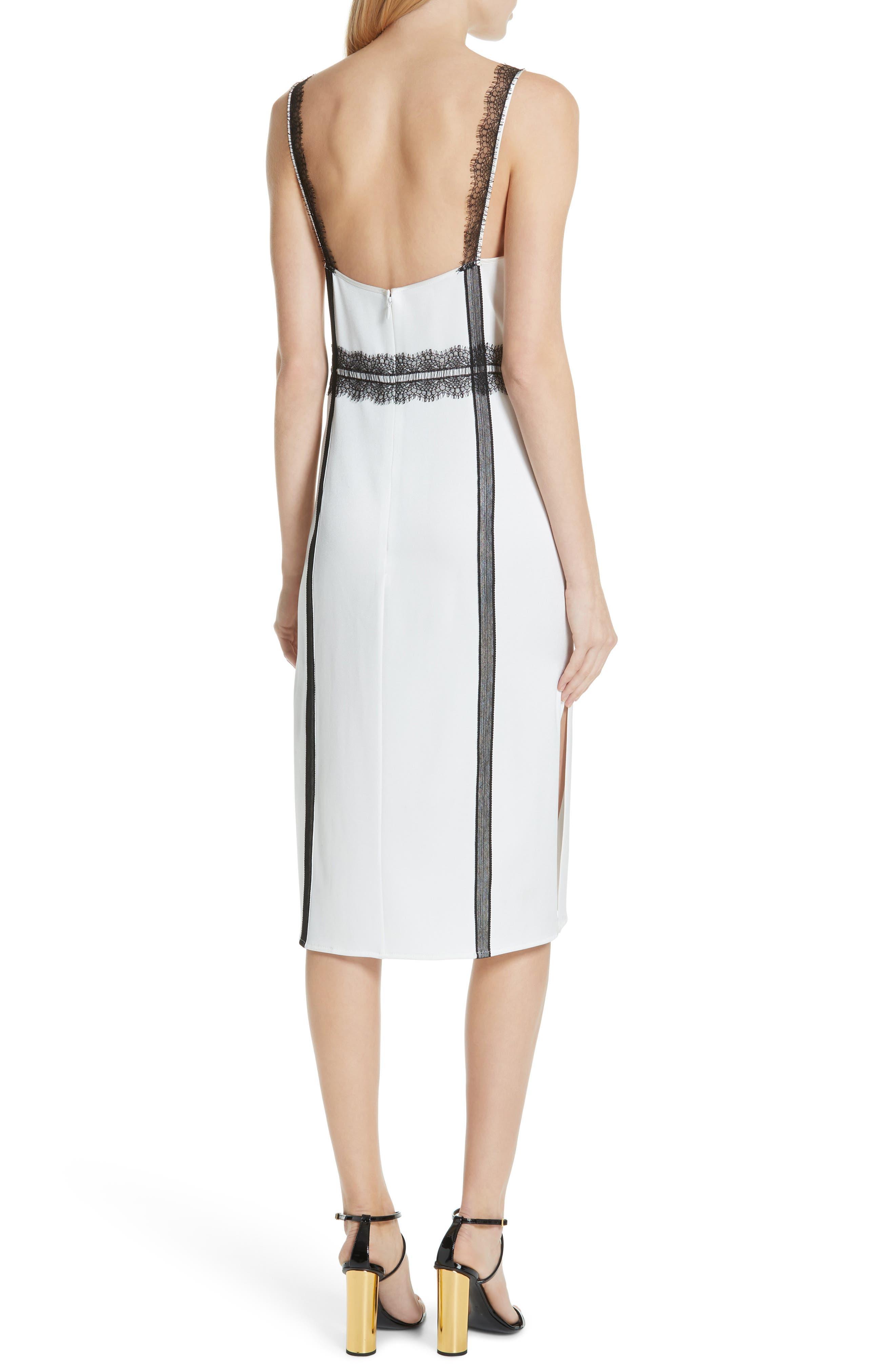 ,                             Crepe Back Satin Dress,                             Alternate thumbnail 2, color,                             COCONUT WHITE