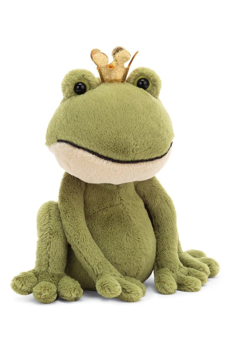 JELLYCAT Felipe the Frog Prince Stuffed Animal, Main, color, GREEN