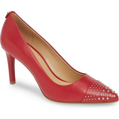 Michael Michael Kors Dorothy Studded Cap Toe Pump- Red