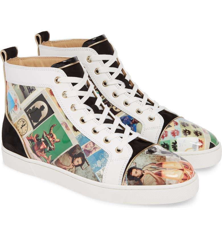 CHRISTIAN LOUBOUTIN Louis Orlato High Top Sneaker, Main, color, VERSION MULTI