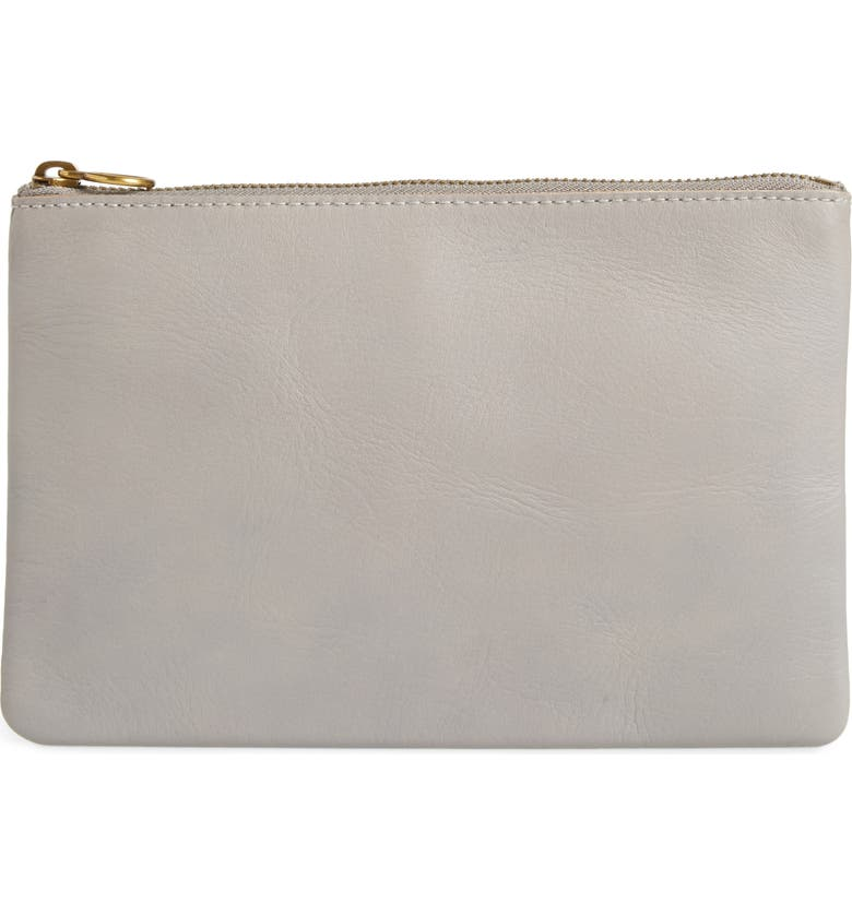 MADEWELL The Leather Pouch Clutch, Main, color, 020