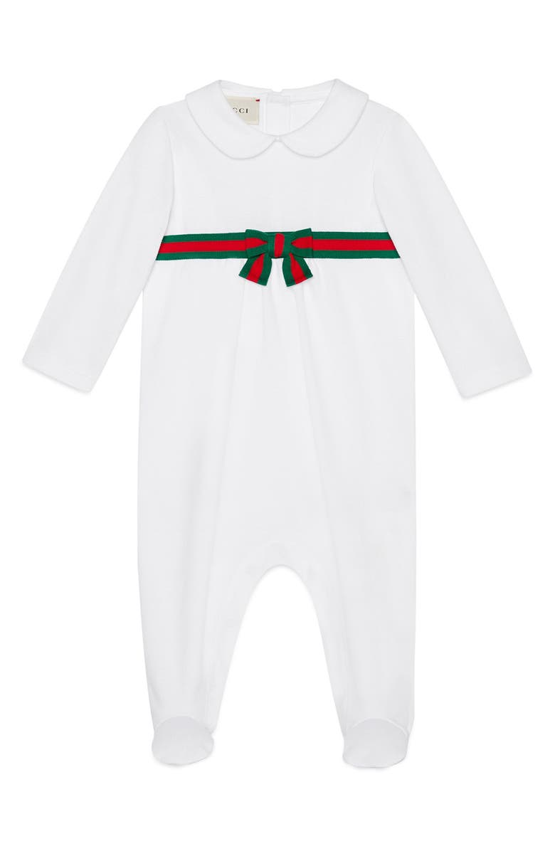 great prices how to find enjoy clearance price Gucci Web Stripe Romper (Baby) | Nordstrom