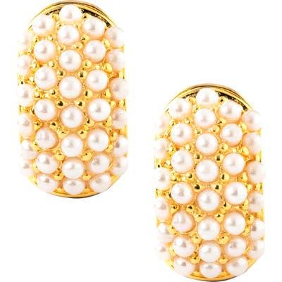 Erwin Pearl Glass Pearl Reversible Earrings