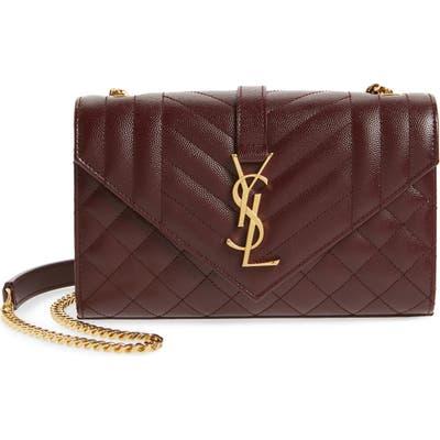 Saint Laurent Small Cassandre Leather Shoulder Bag -