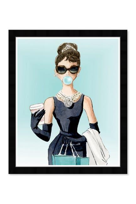 Image of Wynwood Studio Bubble Gum & Coffee Blue Framed Wall Art