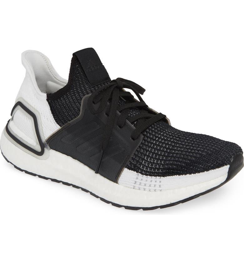 ADIDAS UltraBoost 19 Running Shoe, Main, color, CORE BLACK/ GREY