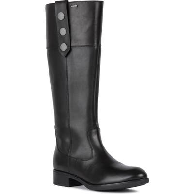 Geox Felicity Abx Waterproof Boot, Black