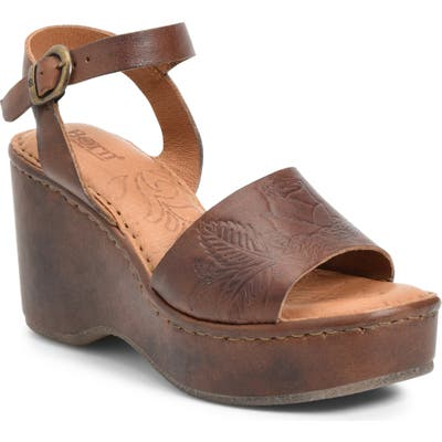 B?rn Moapa Wedge Sandal, Brown