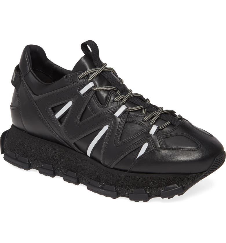 LANVIN Runner Sneaker, Main, color, BLACK/BLACK
