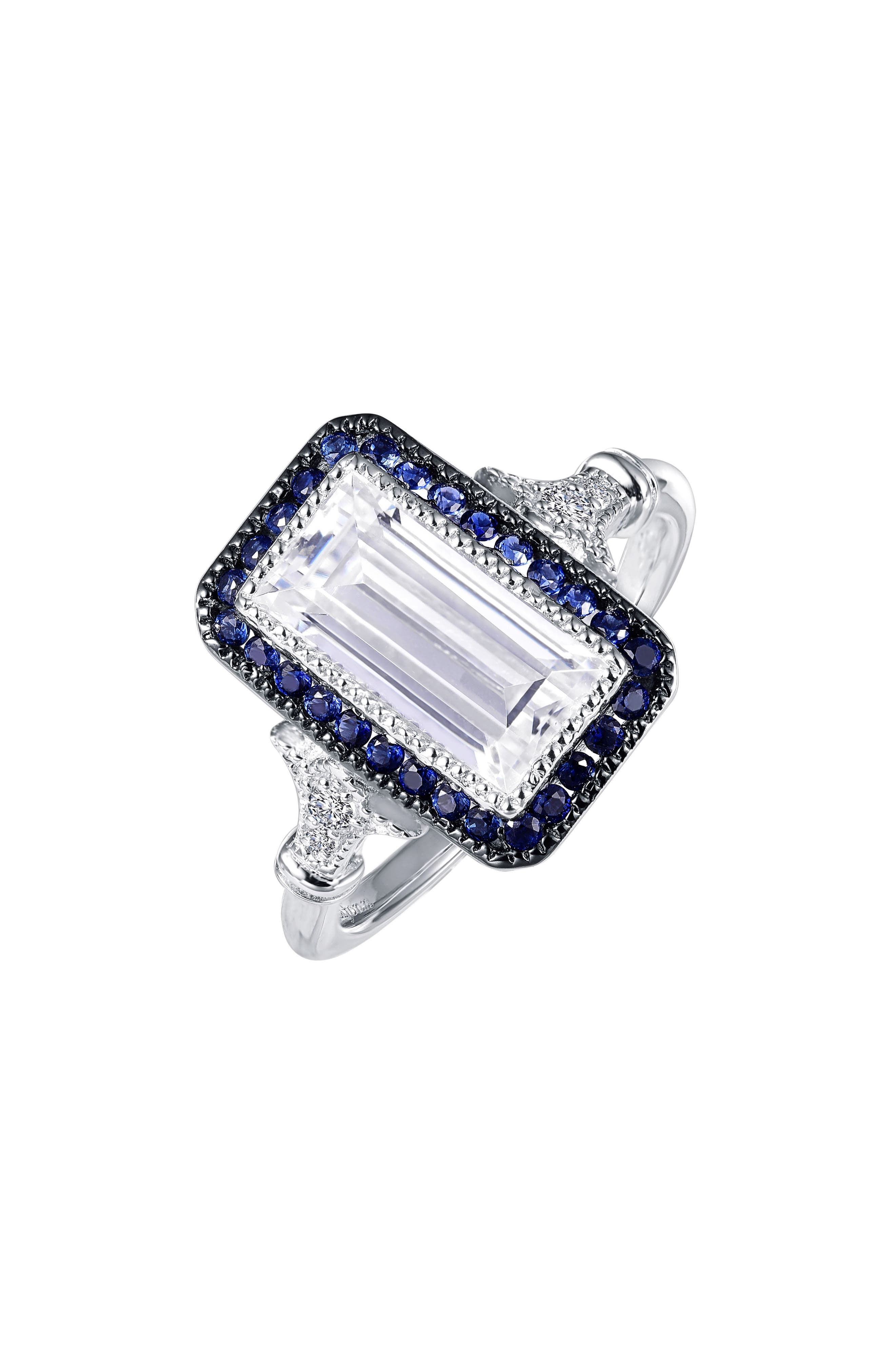 Art Deco Simulated Diamond Ring