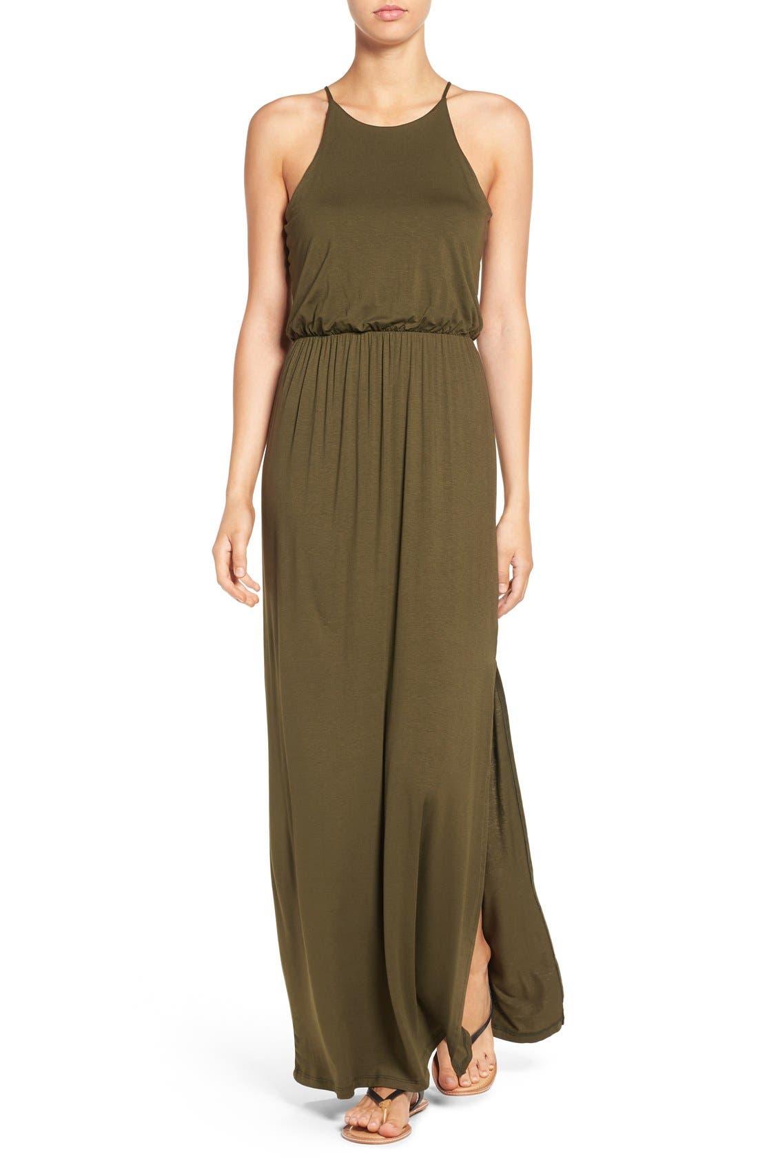 ,                             High Neck Maxi Dress,                             Main thumbnail 84, color,                             302