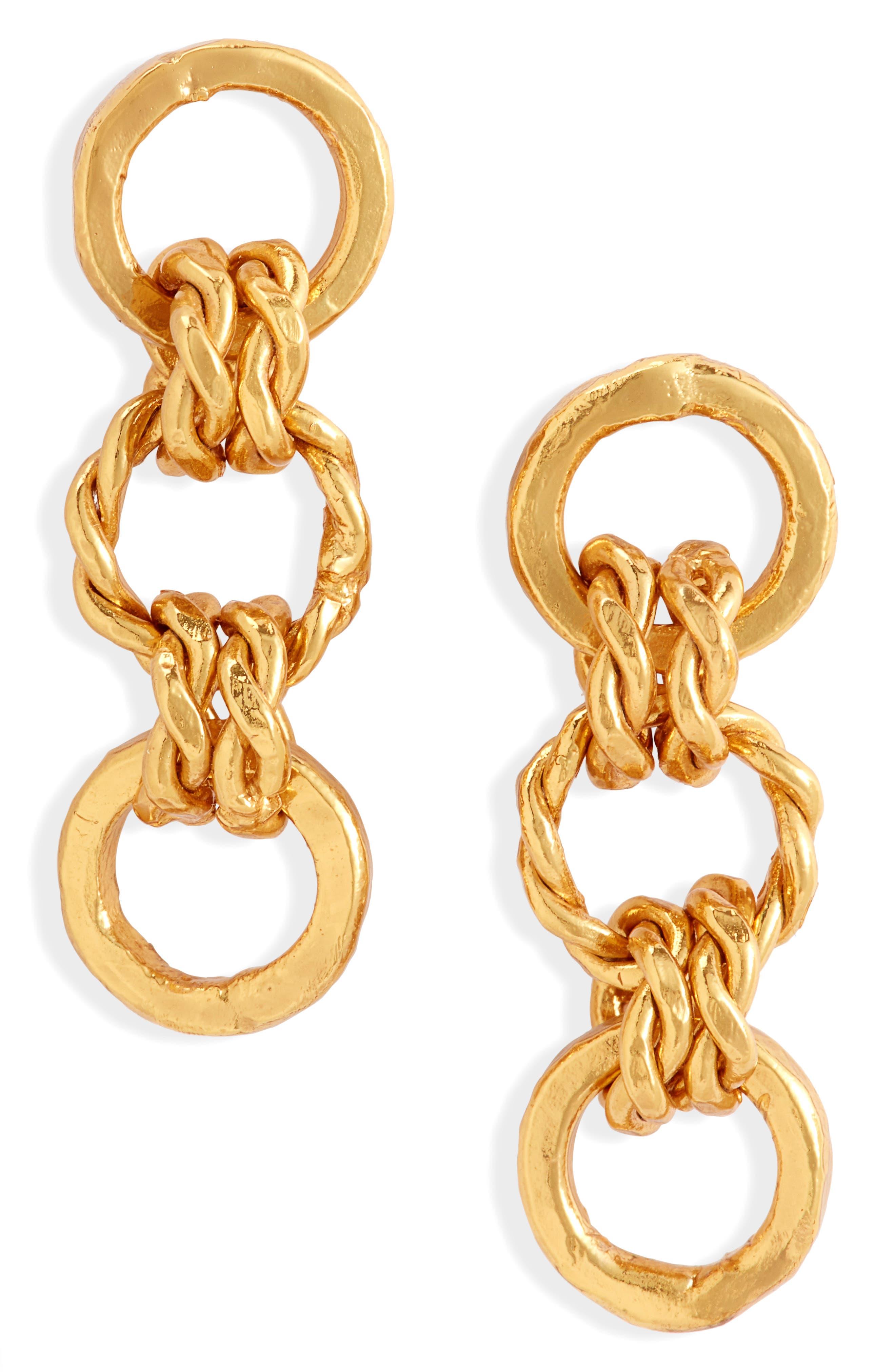 Caribe Cadena Mini Drop Earrings